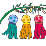 七夕飾りのイラスト