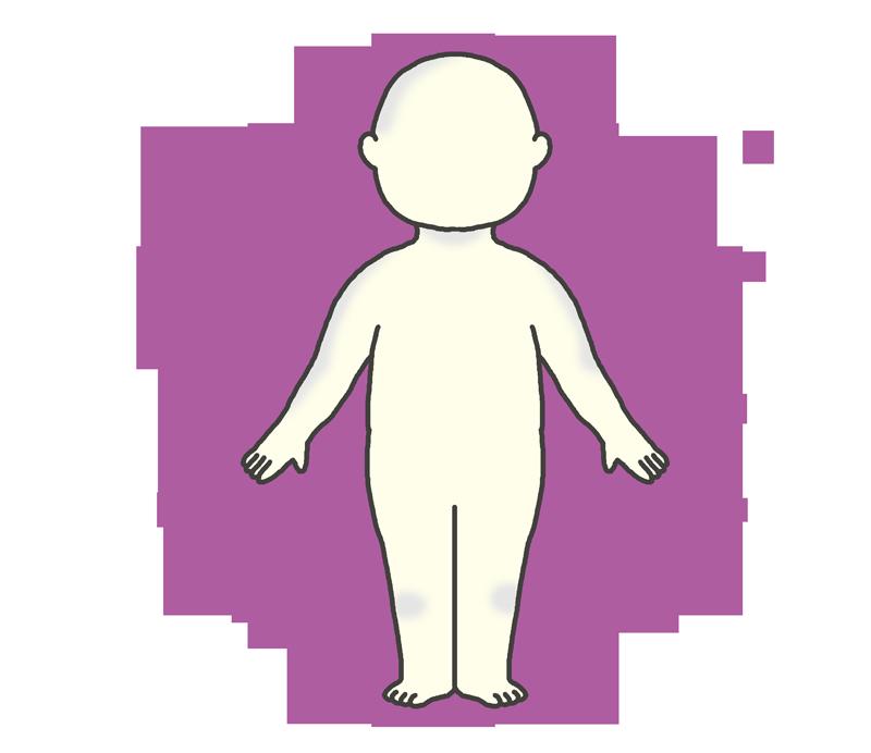 紫のオーラのイラスト