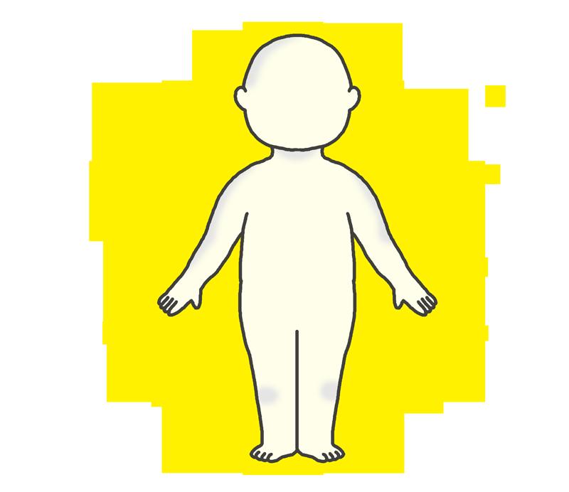 黄色いオーラのイラスト