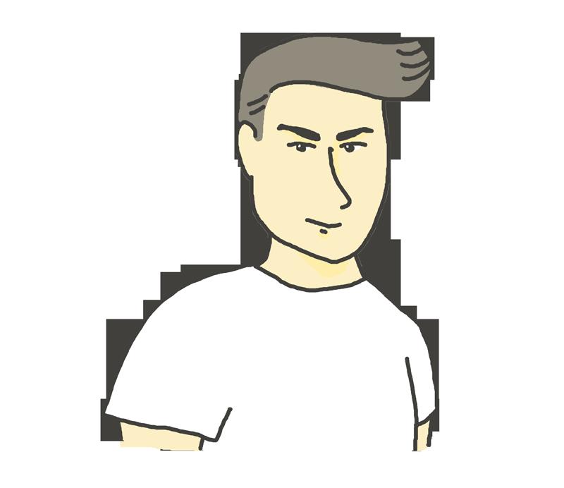 イケメン男子のイラスト