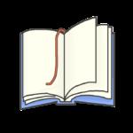 開かれた本のイラスト