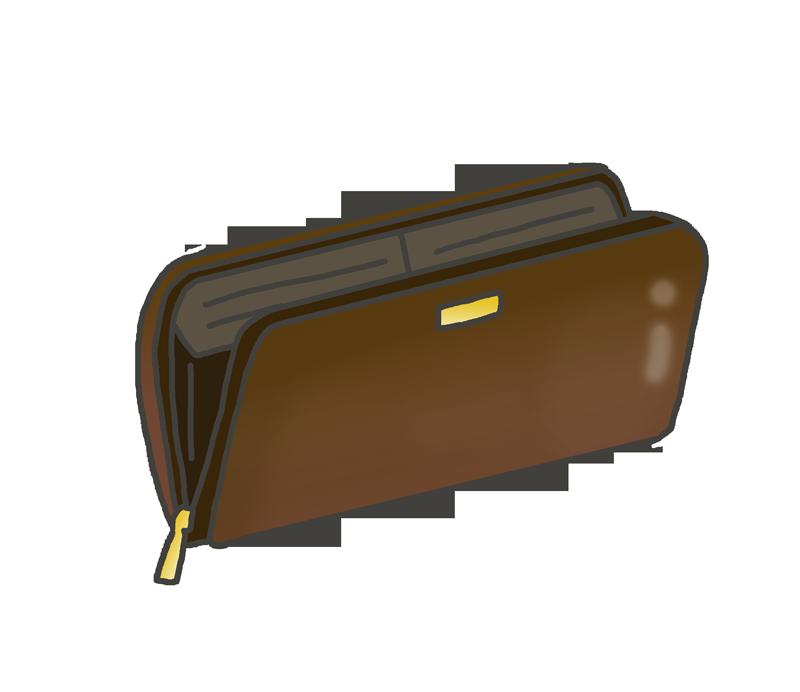 革の長財布のイラスト