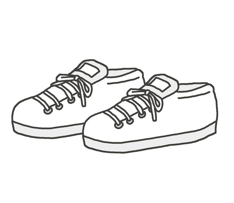 白いスニーカーのイラスト