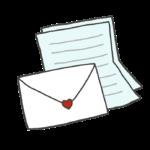 封筒と便箋のイラスト