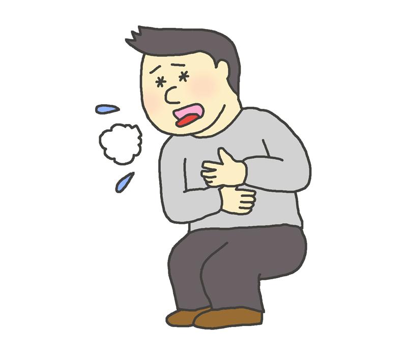 咳込む男性のイラスト
