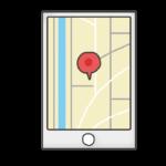 スマートホン地図のイラスト