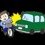 交通事故のイラスト(自動車対自転車)