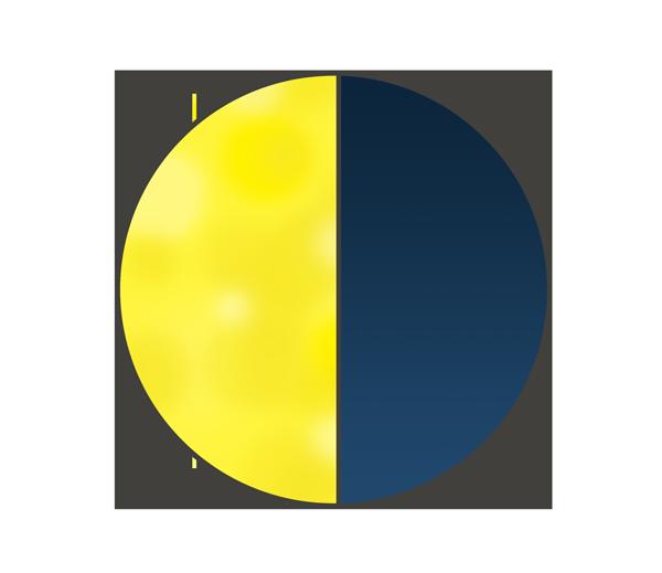 半月(月齢22)のイラスト