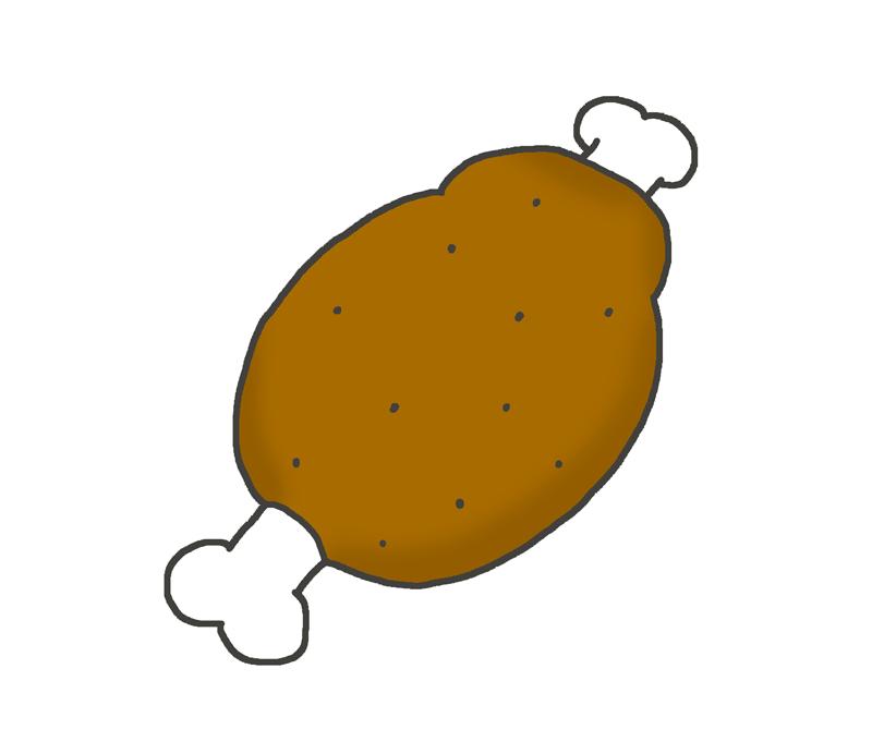 骨付き肉のイラスト