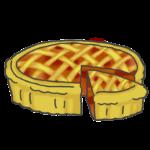 アップルパイ(ケーキ)のイラスト