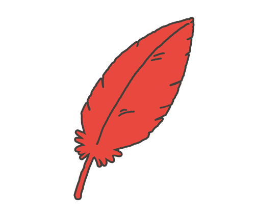 赤い羽根のイラスト