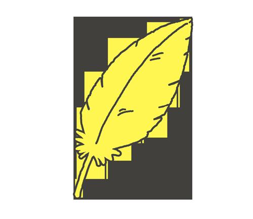 黄色い羽根のイラスト