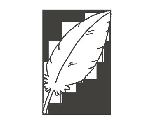 白い羽根のイラスト