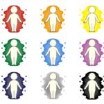 色々な色のオーラのイラスト(アイキャッチ画像)