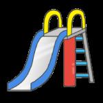 滑り台のイラスト(公園)