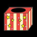 くじ引き箱(抽選箱)のイラスト