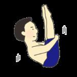 飛込競技(水泳)のイラスト