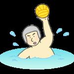 水球男子のイラスト