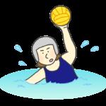 水球女子のイラスト