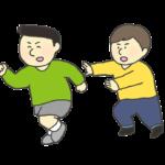 おにごっこ(おいかけっこ)遊びをする子供のイラスト