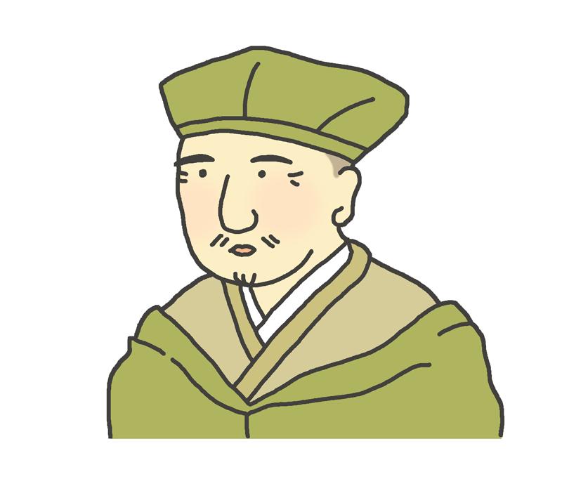 松尾芭蕉の似顔絵イラスト
