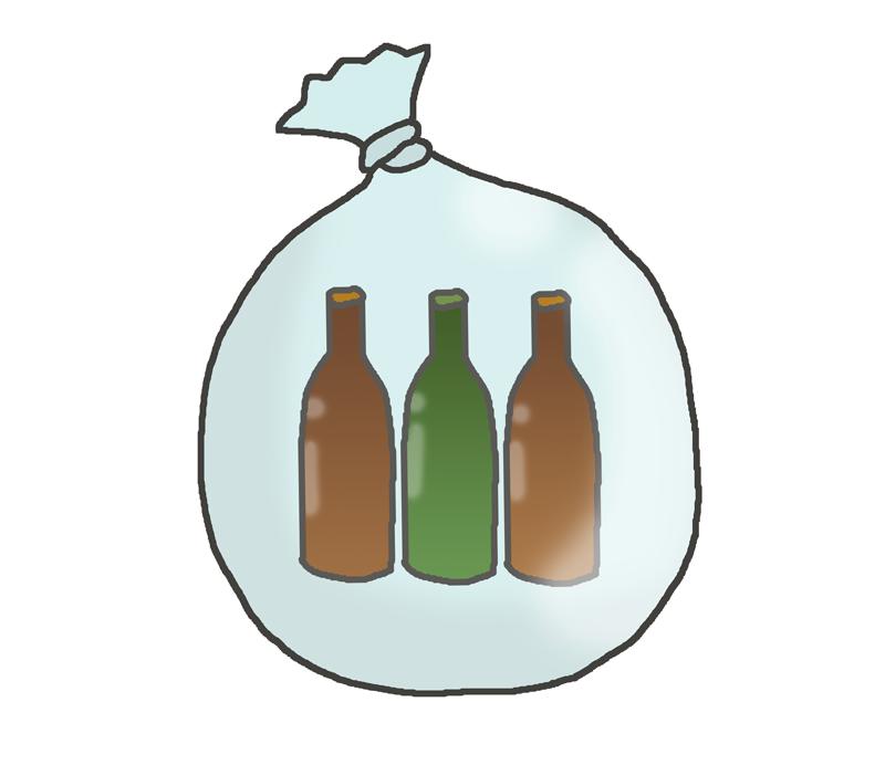 瓶のゴミのイラスト