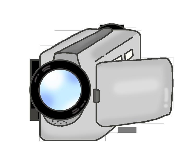 撮影用ビデオカメラのイラスト