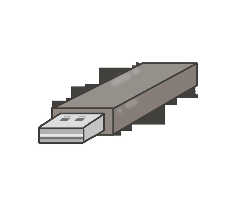 USBメモリーのイラスト(パソコン周辺機器)