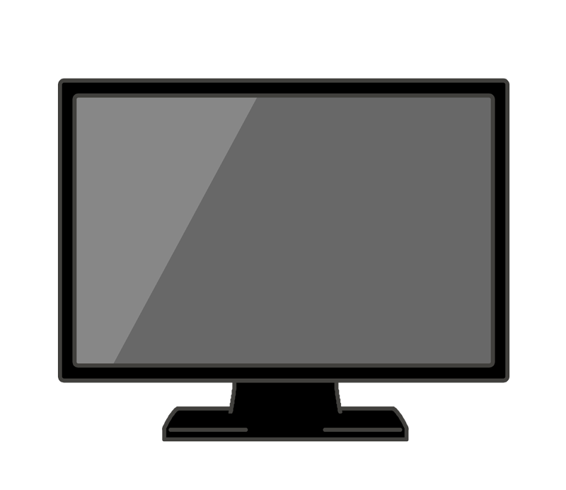 薄型テレビのイラスト