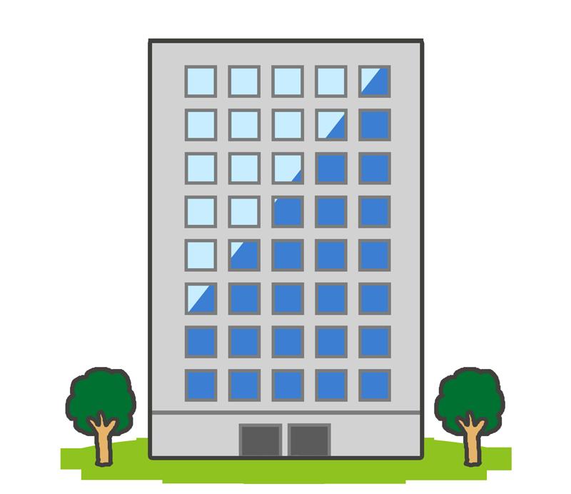 高層ビルのイラスト(建物)