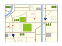 マップ地図(map)のイラスト
