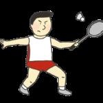 男子バドミントン選手のイラスト