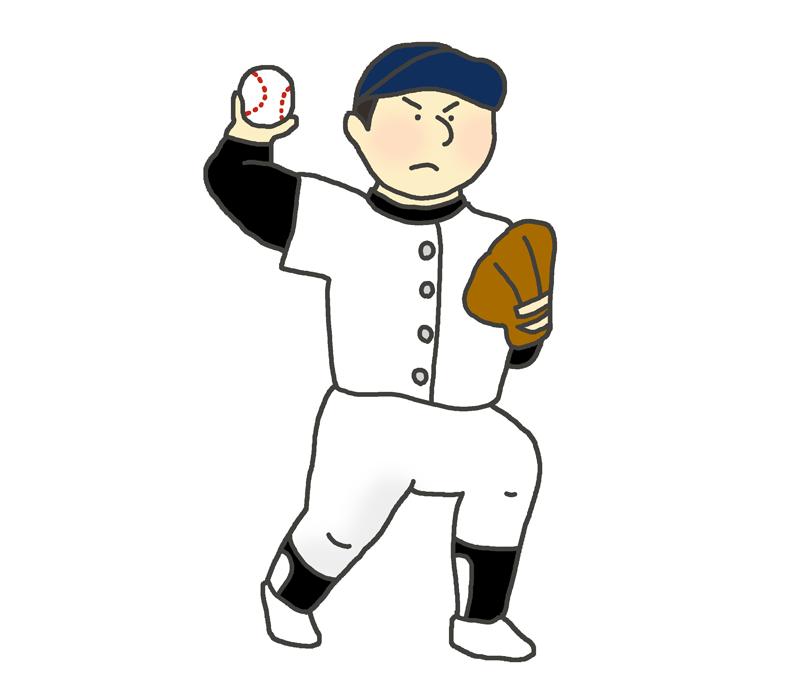 野球選手(ピッチャー)のイラスト