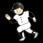 野球選手(走塁)のイラスト