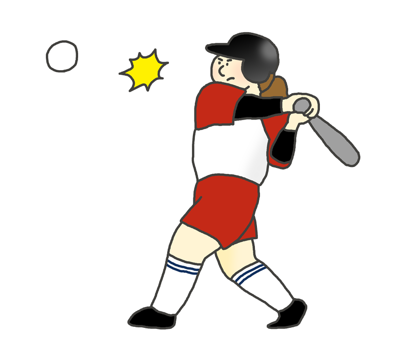 女子ソフトボール選手(バッター)のイラスト