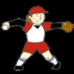 女子ソフトボール選手(ピッチャー)のイラスト