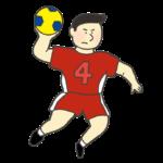 男子ハンドボール選手のイラスト