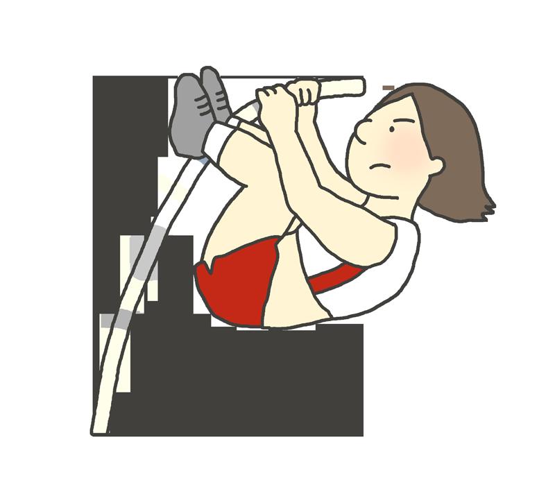 棒高跳びのイラスト(女性)
