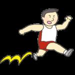 男子三段跳びのイラスト