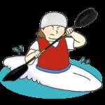女子カヌー選手のイラスト