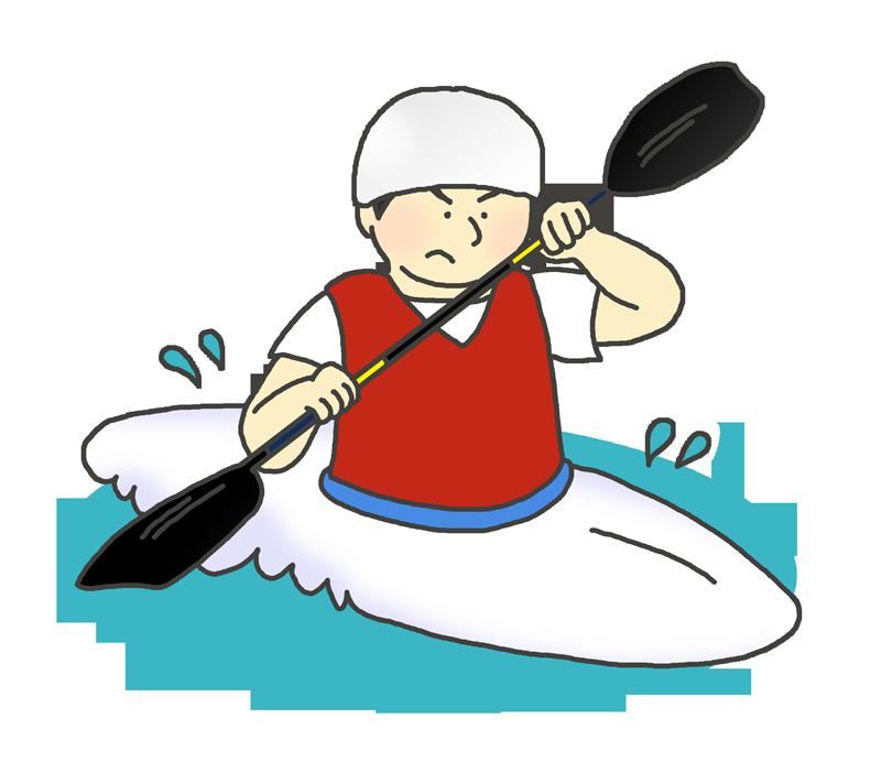 カヌー男子選手のイラスト