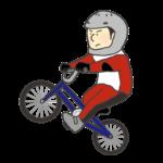 男子BMX選手のイラスト