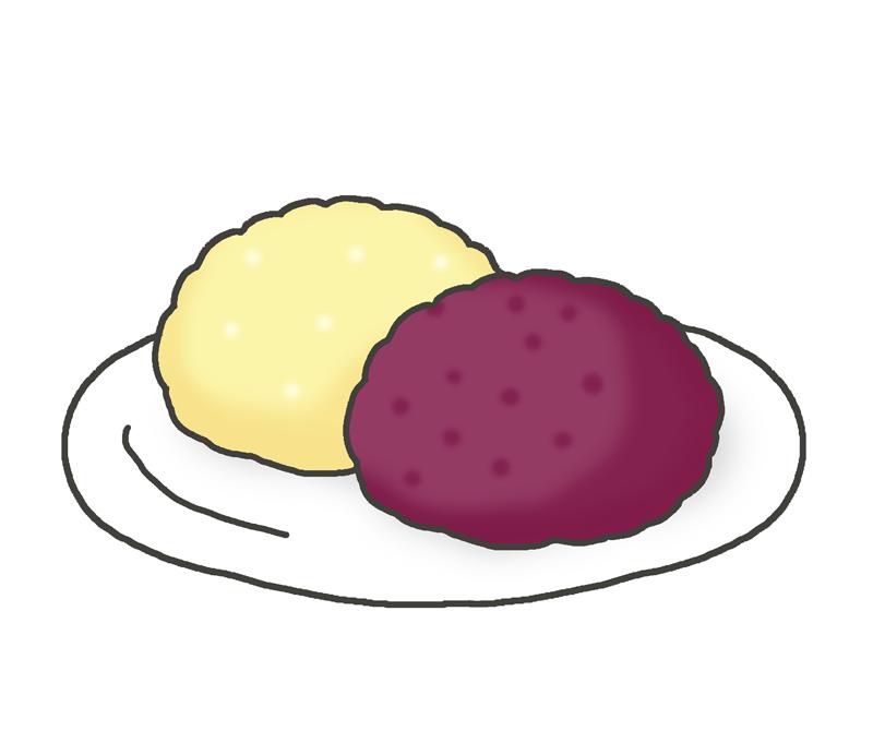 御萩・牡丹餅のイラスト