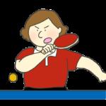 女子卓球選手のイラスト