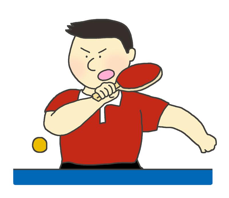 男子卓球選手のイラスト