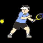 テニス選手のイラスト(男性)