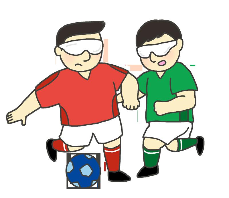 視覚障害サッカーのイラスト(男性)