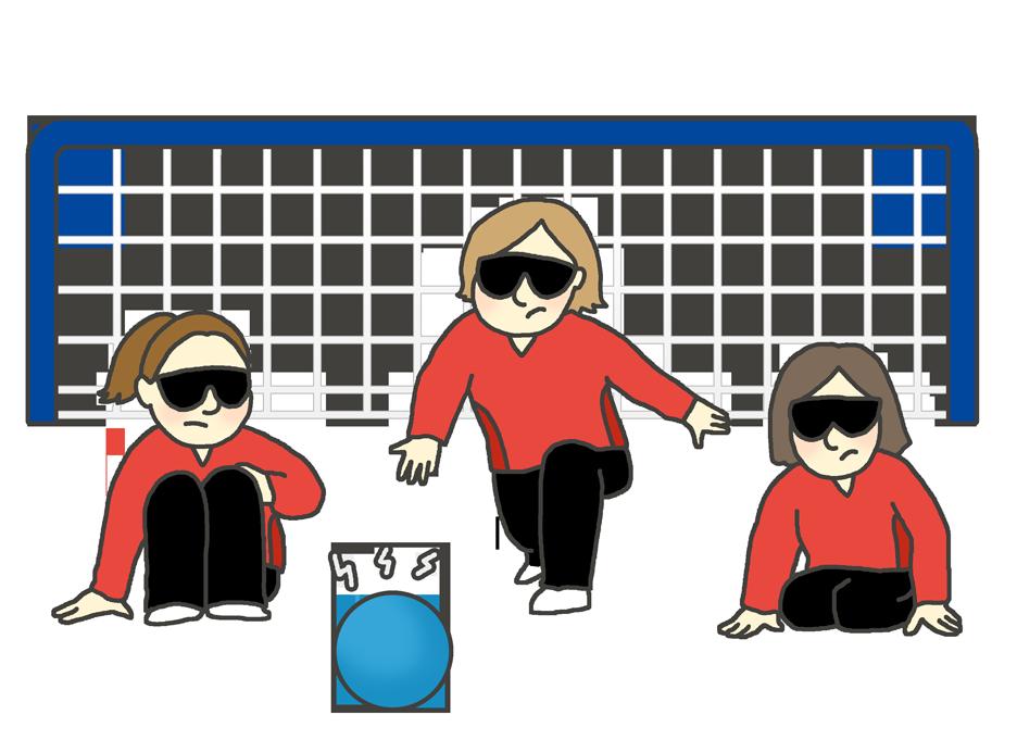 視覚障害・ゴールボールのイラスト(女性)