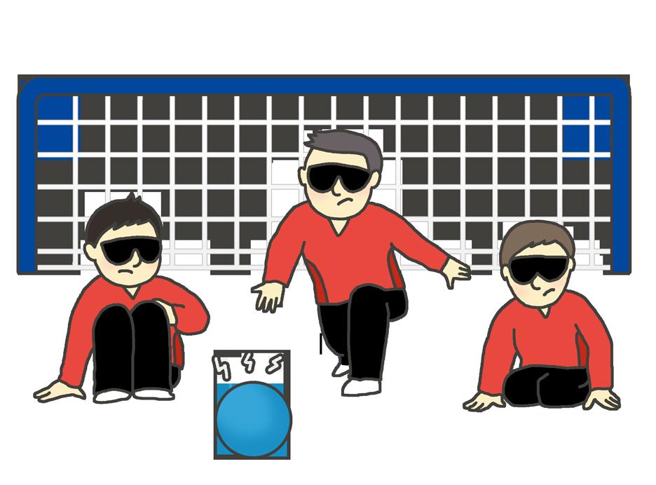 視覚障害・ゴールボールのイラスト(男性)