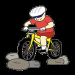 男子マウンテンバイク選手のイラスト